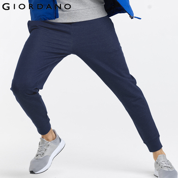 Giordano homens moletom marca masculino algodão harem pants corredores casuais mens basculadores calças sólidas para homens
