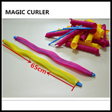 HOT!18pcs/set 65cm long diameter 3cm  Magic hair curler hair rollers as you seen on TV,DIY your hair  styling easy spiral curls