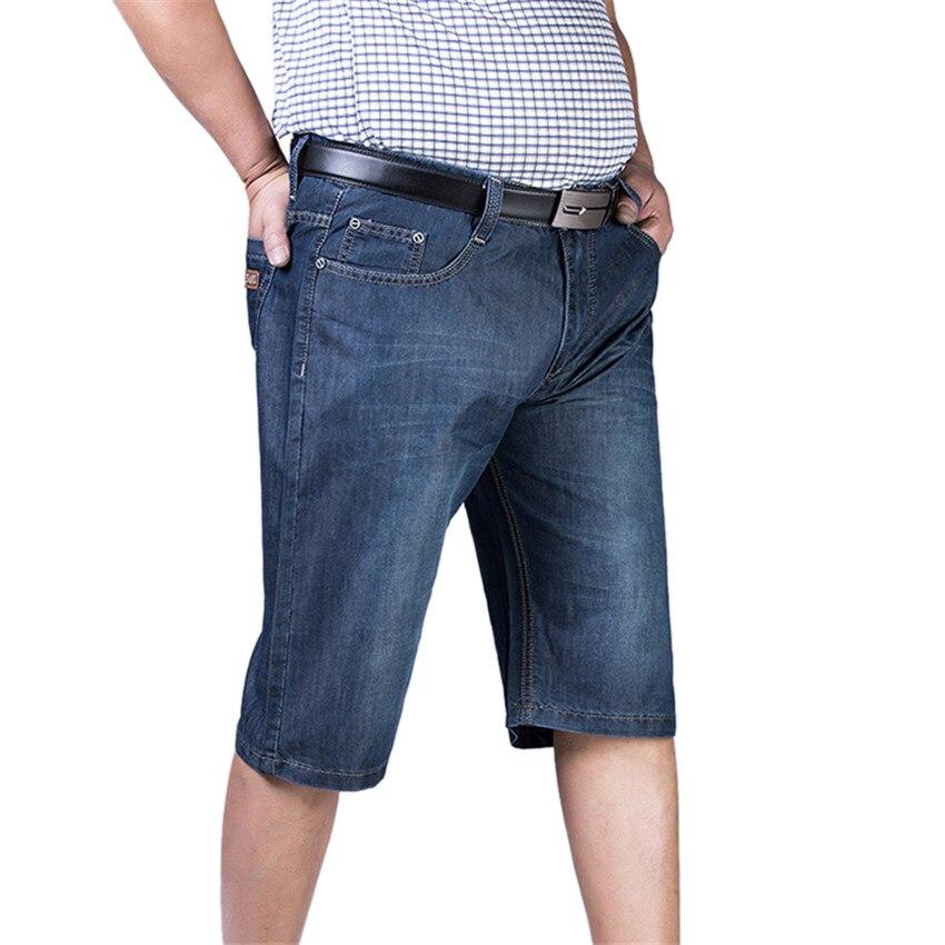 2017 New Summer Style Fashion Mens Jeans Casual Lightweight Loose Shorts Blue Softener Denim Bottoms Straight Man Pants X1030AÎäåæäà è àêñåññóàðû<br><br>