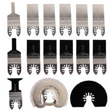 15pcs/set Oscillating Tool Saw Blades Accessories  Fit for Multimaster Renovator Power Tools as Fein, Dremel etc