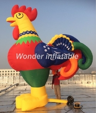 Customized beautiful giant inflatable rooster inflatable chicken cartoon balloon replica model for advertising