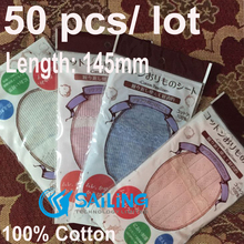 50 pcs / lot Reusable Washable Sanitary Pads Breathable Soft Cotton Cloth Sanitary Maternity Mama Pads Mixed Color(China)