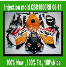 Injection Fairings for HONDA CBR1000RR 2008 2009 2010 2011 CBR1000 RR 08 09 10 11 CBR 1000 RR 08 11 fairing kits REPSOL #S26HHV