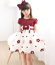Summer 2017 New Girl Dress Baby Princess TuTu Dresses Flower Girls Dresses For Party And Wedding Kids Clothes ropa de ninas