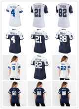 Women's Dallas Sean Lee Ezekiel Elliott Dak Prescott Troy Aikman Emmitt Smith Jason Witten Dez Bryant cowboys jerseys(China)