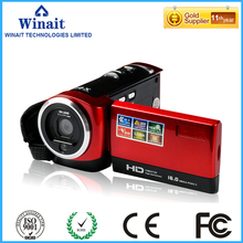 Home use portable digital compact video camcorder made in china DV-C6 16mp photographing lithium battery 10s self-timer camera