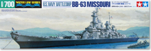 TAMIYA 31613  1/700 Scale  waterline series US Navy Battleship BB-63 Missouri Plastic Assembly Model kit