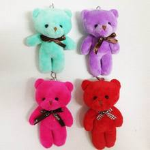"Bulk 13cm(5.1"")  Lovely Siamese Teddy Bear With Bow Plush Pendants Toys Key chain/Bouquet/Phone/Bag/Decorative Accessories gift"