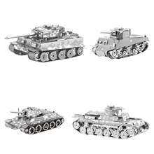 Hot Sale 3D Metal Puzzle Military 4 Styles Tank Decoration Toys Jigsaw Puzzle Toys For Kids/Adult Brinquedos Madeira