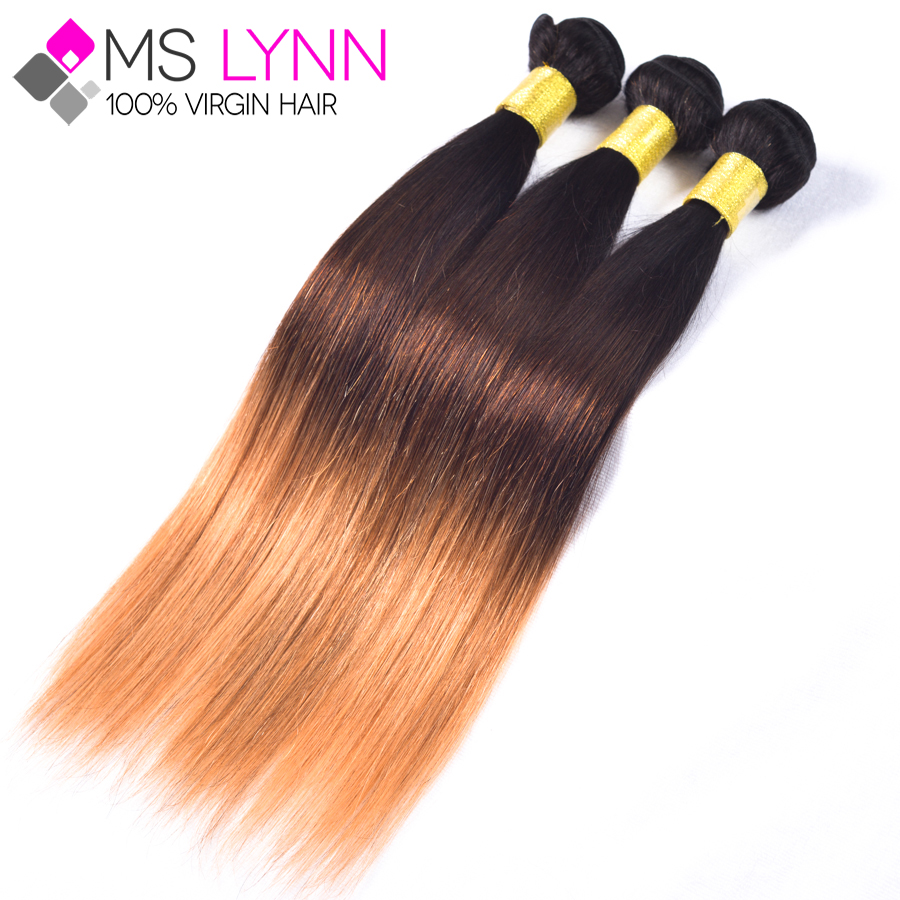 7A Brazilian Virgin Hair T1B/4/27 Ombre kanekalon braiding hair 3pcs Ombre Hair Extensions,Brazilian Straight Virgin Hair<br><br>Aliexpress