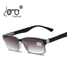 488919aed51 Men Reading Glasses For Sight Gradient Grey Lens Anti UV400 Glass Spectacles  Gafas Lectura Retro +1 +1.25 +1.75 2 2.25 2.75 3.25