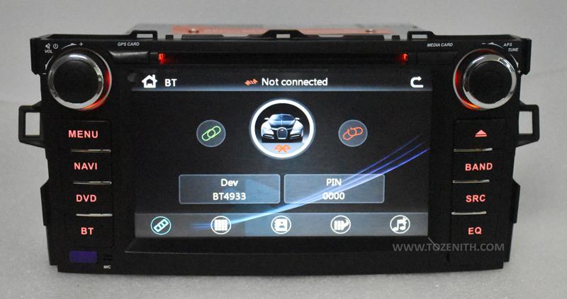 toyota auris corolla hatchback android car dvd radio 2 din 2gb ram (4)