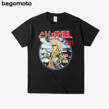 bagomoto 2017 New black Rock iron maiden printed men's cotton T-shirt 3d printed Men T shirt Hipster Tops Short Sleeve Tees