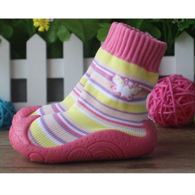 Image Heart Toddler Shoes Soft Bottom Baby Socks Newborn Baby  Baby Socks With Rubber Soles Ws917