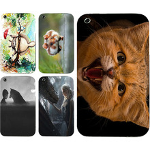 New Fashion Cute Cat Animal Totoro Colorful Painting Hard PC Plastic Cell Phone Case For Apple iPhone 3 3G 3GS Shell Back Cover(China)
