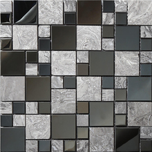 Free shipping,Metal marble mosaic tile,Kitchen/TV shower Background wall tile,self adhesive Mosaic Tiles home wall decor,LSALI01