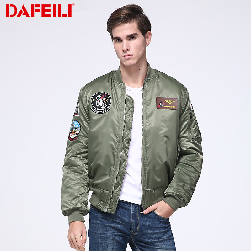 2018 Thick Top gun winter plus size ma-1 streetwear hip hop varsity bomber jacket wholesale designer water proof for men boomber