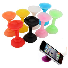 New Silicone Double Sided Suction Cup Phone Holder Sucker Stand For Cell Phones GPS Free Shipping
