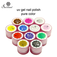 Saviland 1pcs UV Gel 3D Painting paint polish Nail Art Paint Drawn Glitter 12 Color Acrylic Nail Art Bio Gel polish