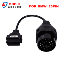 2017 Hot sales OBD for BMW 20pin OBD II Adapter for BMW 20 pin to OBD2 16 PIN Female Connector e36 e39 X5 Z3