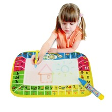Russian Magic Water Drawing Mat Writing Doodle with Pen Child's Non-toxic Drawing Board Mat For Baby Play Education 16.5x25cm(China)