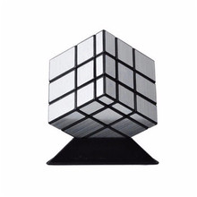Useful Magic Puzzle Speed Cube Block Twist 3X3X3 Silver Mirror Smooth Twist Toy