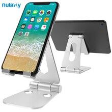 Nulaxy Portable Phone Stand iPhone X Aluminum Adjustable Desktop Holder Dock iPad Nintendo Switch Tablet Stand