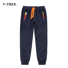V-TREE Fatter Boys Pants Stretch Bigger Trousers For Boys Children Jogger 6-14 Years Teenage Sports Pants(China)