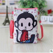 New Cartoon kid animal Messenger Bags Children PU Leather Packet Totoro Princess Bag Phone Package For Girls Boys Kids Gift