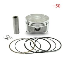 AN400 Burgman Skywave 400 Piston & Rings Kit Motorcycle Engine parts Piston Set For AN 400 (+50) 0.5mm Oversize Bore Size 83.5mm(China)