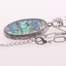 Abalone Shell 925 Sterling Silver Jewelry Necklace And Pendant TE412