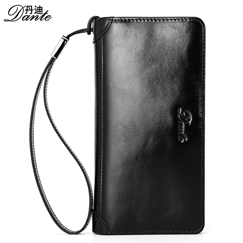 Dante Men Leather Brand Wallets Vintage Casual Genuine Cowhide Long Clutch Wallet Male Phone Pocket Pouch , Carteira Masculina<br>