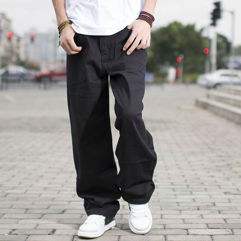 Size 46 44 42 40 Big Men Black Jeans Loose Fit Designer Jeans For Men Hip Hop Style Jeans Baggy Skateboard Pants Large SizeОдежда и ак�е��уары<br><br><br>Aliexpress