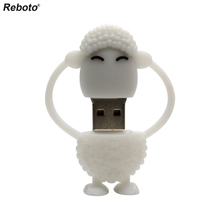 Cartoon Sheep Cat USB Flash Drive Cute Memory Stick 4GB 8GB 16GB 32GB 64GB Pen Drive The latest design Usb stick U disk(China)