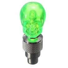 2X Valve Cap Wheel Tire LED Light Lamp for Motorcycle Bicycle Car, Green