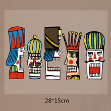 NEW Character cartoon Avatar Heat Transfer Iron On Patches For Stripe Clothes  Washable Iron Appliques For Clothing Parches