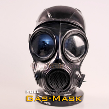 Buy (DM503) Top quality latex rubber full head conquer gas mask fetish hood accessory breathing control equipment latex fetish wear