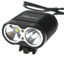 UniqueFire HD-016 Bicycle Light 2*Cree XM-L2 4 Modes 2000LM Led bike light + Waterproof 4*18650 battery pack + Charger