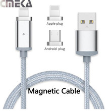 Nylon Braided Magnetic Cable Micro USB Cable For iPhone 5S 6S 7 Plus Fast Magnetic Charging Usb Cable For Samsung Xiaomi Android