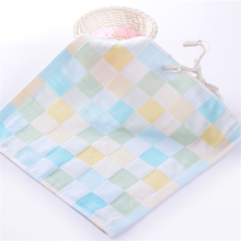 5pcs 25*25cm Quick Dry Baby Bath Towel Infant Care Hand Face Wipes Newborn Feeding Washcloth Soft Plaid Handkerchief Baby Towel(China)