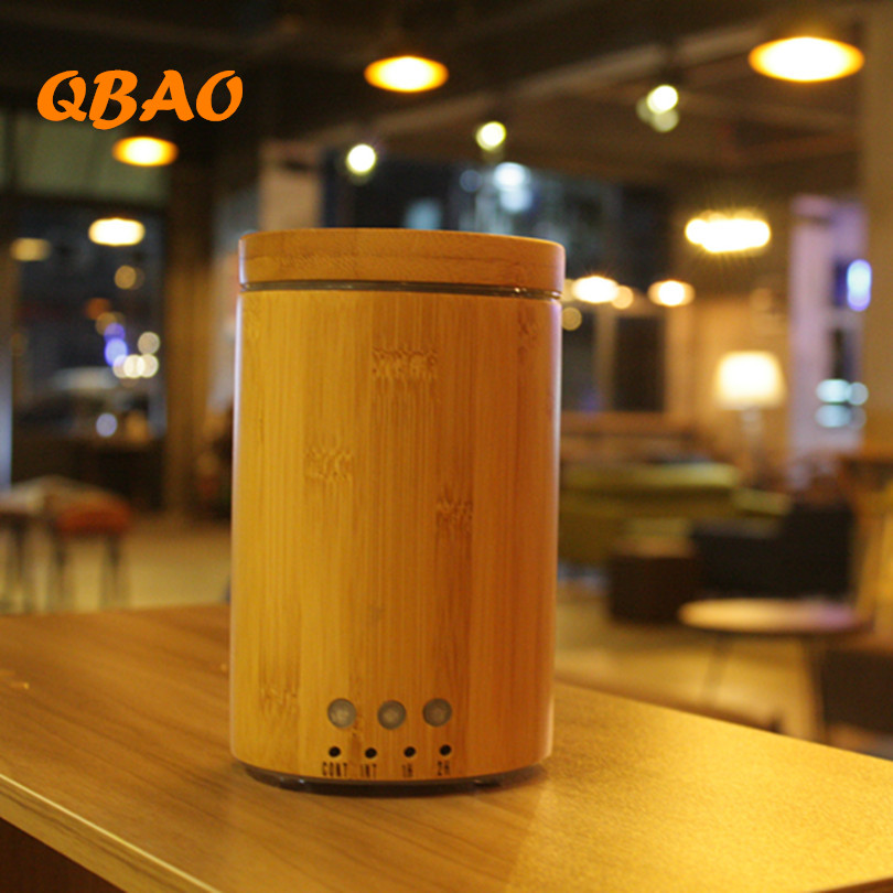 Aroma Diffuser Humidifier Ultrasonic Bamboo 24V 100ml Electric Air Humidifier Home Fragrance Mist Maker Essential Oil Diffuser<br>