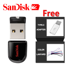 Original SanDisk Pen Drive 32gb USB Flash Drive 64GB 8GB Mini PenDrive 16GB USB 2.0 SDCZ33 USB Stick official verification