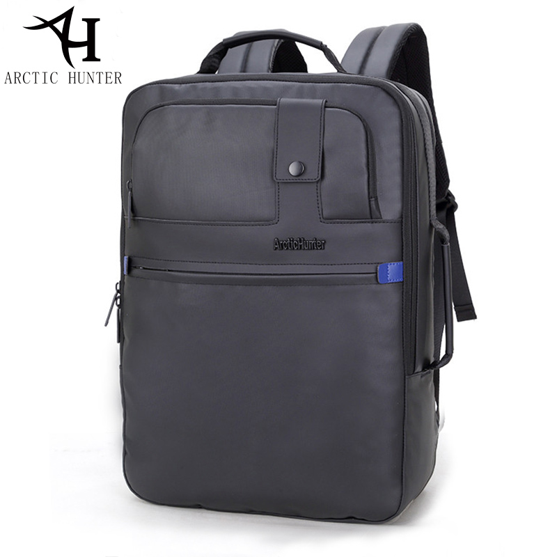 ARCTIC HUNTER High quality waterproof backpack men long 17 inches Business travel back pack Black Backpacks mochila notebook<br>