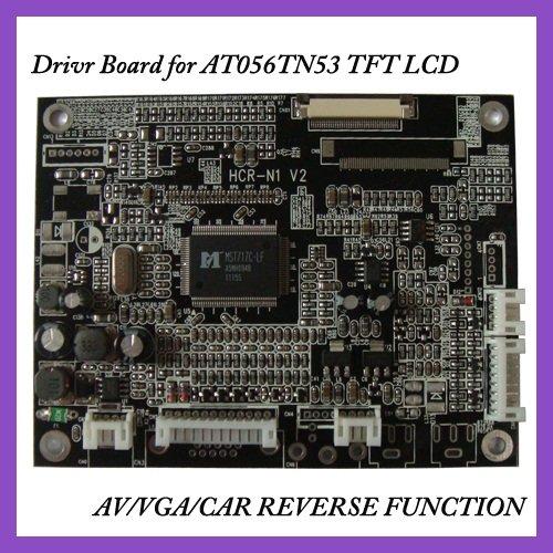 VGA+2AV+Reversing TFT Driver board of 5.6inch AT056tn53v.1  tft lcd panels VGA driver board<br>