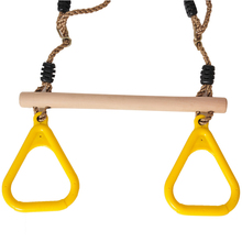 Wood Flying Rings Swing For Child & Adult Pull-Up Pull Up Chinning Muscle Outdoor Indoor Sports Game Toys 2 in 1 Set Toys(China)