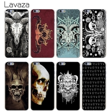 Lavaza Satanic Skull Hard Transparent Cover Case for iPhone X 10 8 7 6 6S Plus 5 5S SE 5C 4 4S(China)