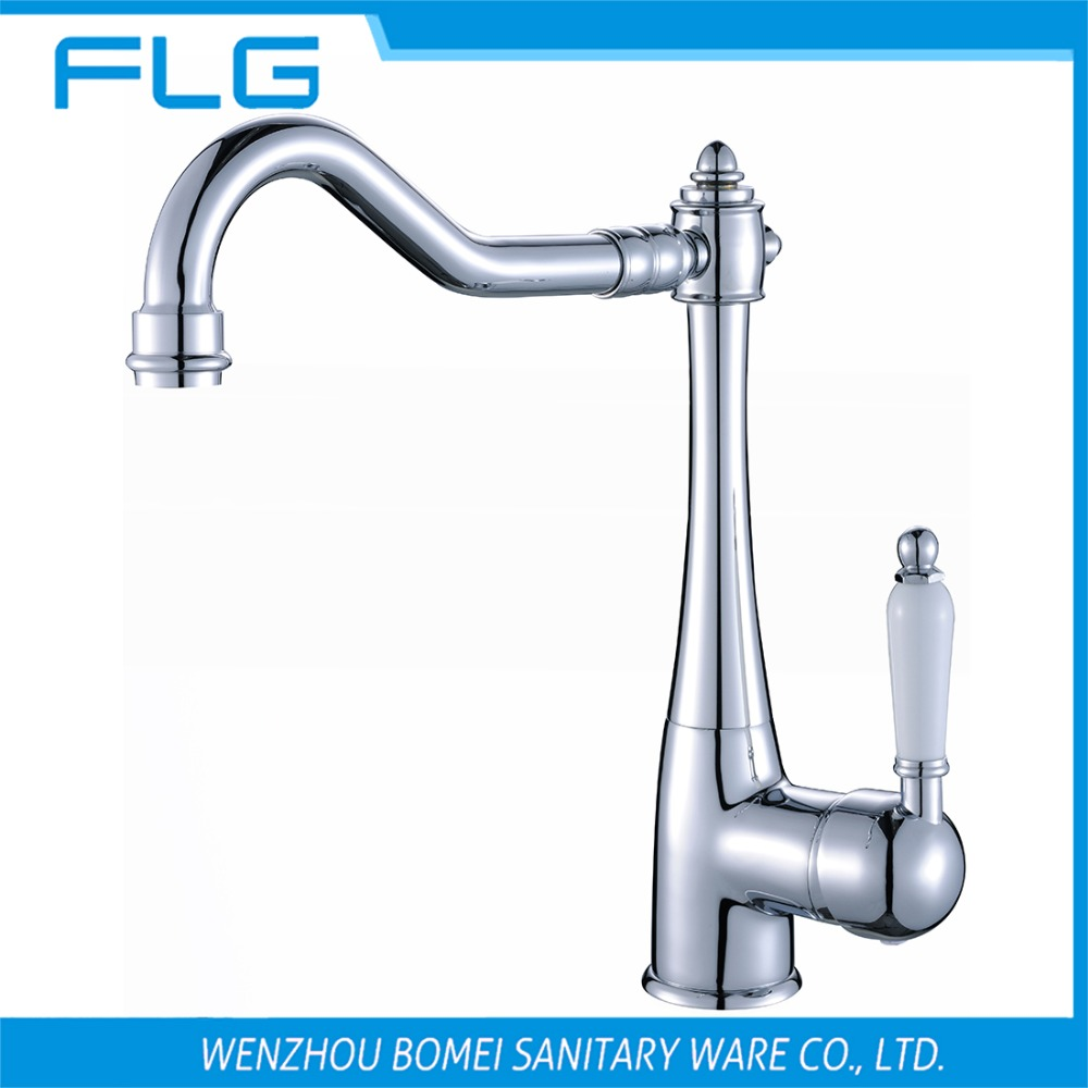 Free Shipping Single Handle Bathroom Sink Faucet FLG100252 Deck Mounted Mixer ,Solid Brass Chrome Vessel Mixer Ceramic Handle<br><br>Aliexpress