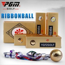 PGM Golf Ball Golf tee Colored Ribbon Opening Ceremony Gifts Ball Special Gift Enjoy Swing High Elasticity Wear Ball