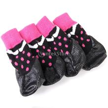 Waterproof Dog Puppy Cat Pet Shoes Slippers Non-Slip Socks(China)