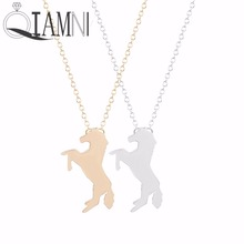 QIAMNI 1pcs Unique Running Horse Necklace Pendant Lucky Cute Jewelry Gift for Women Girls Fashion Jewelry Chocker Necklace